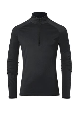 KJUS FEEL HALF ZIP MENS TOP - BLACK - SIZE 48/S