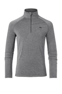 KJUS TRACE 1/2 ZIP MENS TOP - DARK GREY MELANGE - SIZE 48/S