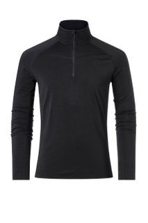 KJUS TRACE 1/2 ZIP MENS TOP - BLACK MELANGE