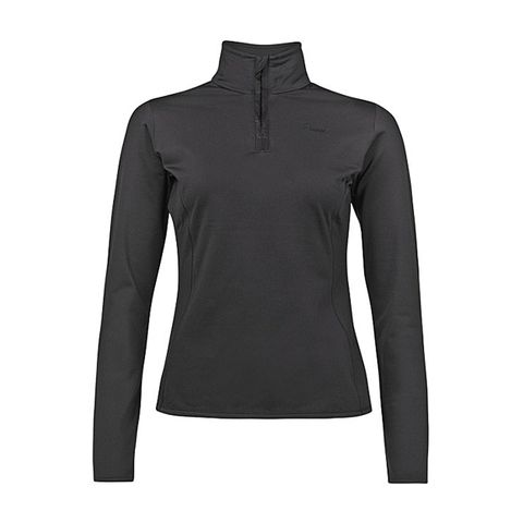 PROTEST FABRIZOY JR 1/4 ZIP GIRLS TOP - TRUE BLACK - SIZE 8/128