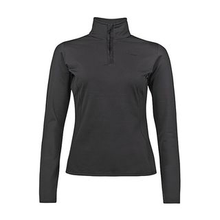 PROTEST FABRIZOY JR 1/4 ZIP GIRLS TOP - TRUE BLACK - SIZE 14/164