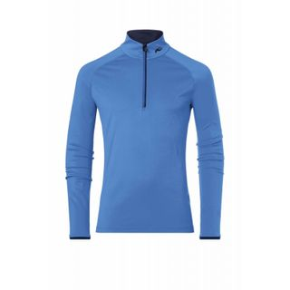 KJUS FEEL HALF ZIP MENS TOP - BLUE STONE