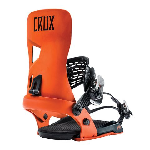 ROME CRUX SNOWBOARD BINDING HAZARD ORANGE L/XL