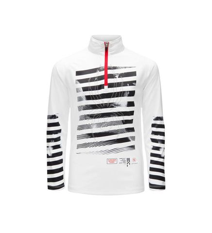 SPYDER LIMITLESS PERFECTOR ZIP BOYS TOP - WHITE/BLACK/RED - SIZE S