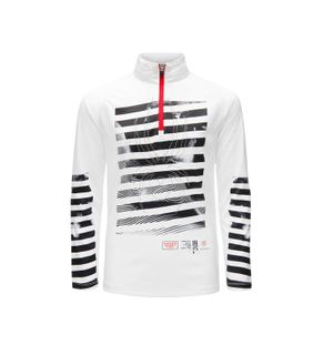 SPYDER LIMITLESS PERFECTOR ZIP BOYS TOP - WHITE/BLACK/RED - SIZE M