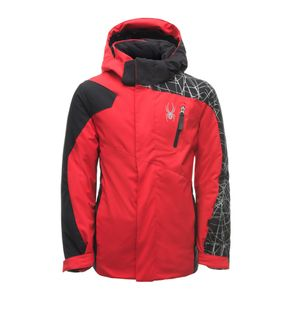 SPYDER MINI GUARD BOYS JACKET - RED/BLACK/BLACK - SIZE 3