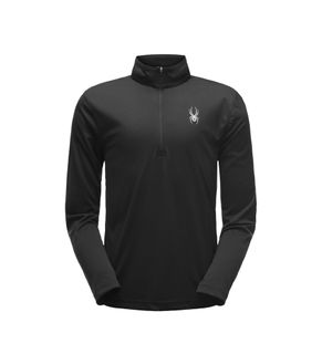 SPYDER LIMITLESS SOLID ZIP T-NECK MENS TOP - BLACK - SIZE XL