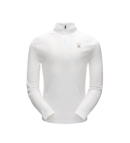 SPYDER LIMITLESS SOLID ZIP T-NECK MENS TOP - WHITE - SIZE S
