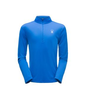 SPYDER LIMITLESS SOLID ZIP T-NECK MENS TOP - TURKISH BLUE XL