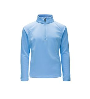 SPYDER SAVONA ZIP T-NECK KIDS TOP - BLUE ICE - SIZE S
