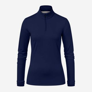 KJUS FEEL HALF ZIP WOMENS TOP - BLUE MELANGE