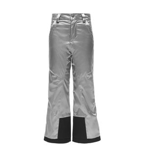 SPYDER OLYMPIA REGULAR KIDS PANTS - SILVER/BLACK - SIZE 14