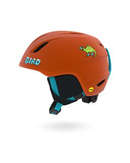 GIRO KIDS HELMET LAUNCH, MIPS, ORANGE DINO