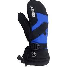 SWANY X-OVER JR KIDS MITTENS - BLACK/ROYAL BLUE