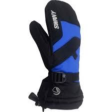 SWANY X-OVER JR KIDS MITTENS - BLACK/ROYAL BLUE - SIZE XL