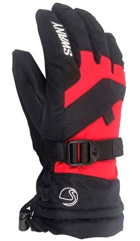 SWANY X-OVER JR KIDS GLOVES - BLACK/RED - SIZE XS
