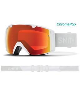 SMITH I/O ADULTS ASIAN FIT GOGGLES - WHITE VAPOR WITH CHROMAPOP EVERYDAY RED MIRROR AND CHROMAPOP STORM FLASH LENS