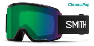 SMITH SQUAD MENS GOGGLES - BLACK WITH CHROMAPOP EVERYDAY GREEN MIRROR LENS AND YELLOW LENS