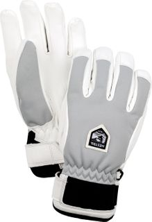 HESTRA WOMENS MOJE C-ZONE GLOVE, GREY/WHITE