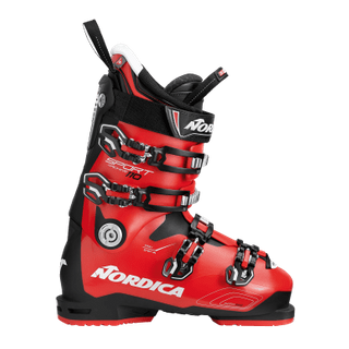 NORDICA SPORTMACHINE 110 MENS SKI BOOTS - BLACK/RED/WHITE