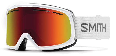 SMITH DRIFT ADULTS GOGGLES WHITE RED SOL-X MIRROR LENS