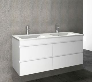Pavia PVC Gloss White Vanities