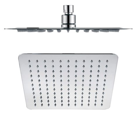 Brass Shower Head Sq 250 Ch