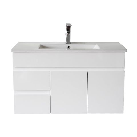 Pavia 900X460 WH Vanity LHD