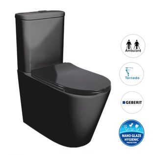 Feanza Toilet Suite Matt Black
