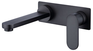 Vetto Wall basin Mixer Gunmeta