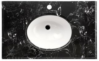 LUX Stone Top Black Marble 750