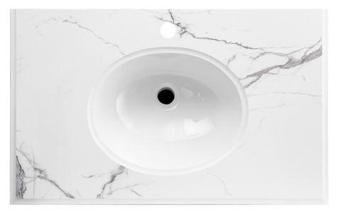 LUX Stone Top Calacatta 900