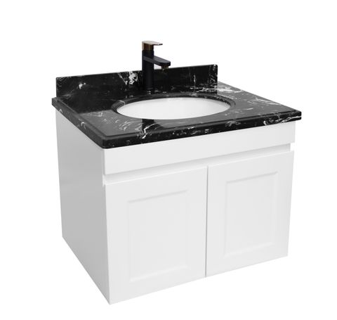 Hampton Matte White Vanity 600mm