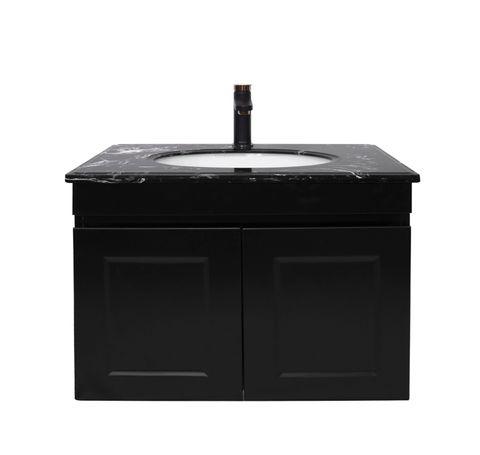 Hampton Matte Black Vanity 600mm
