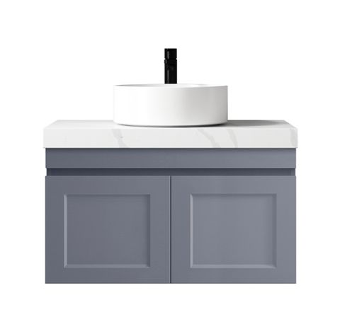 Hampton Matte Grey Vanity 750mm