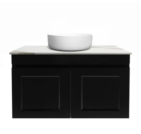 Hampton Matte Black Vanity 750mm
