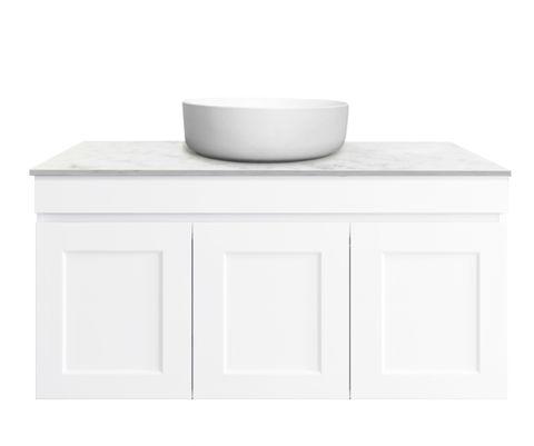 Hampton Matte White Vanity 900mm