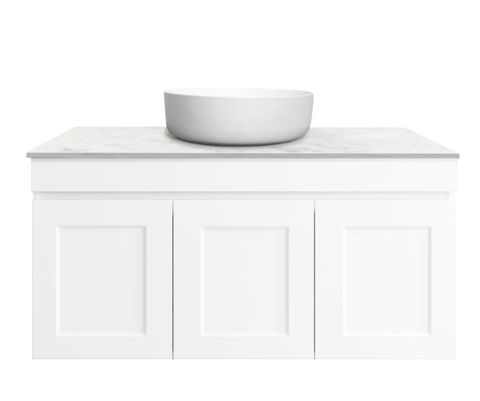 Hampton Matte White Vanity 900mm
