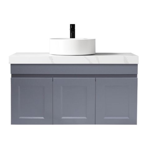 Hampton Matte Grey Vanity 900mm