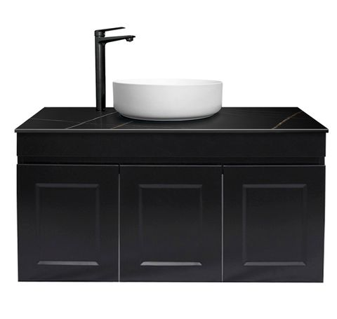 Hampton Matte Black Vanity 900mm