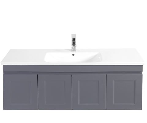 Hampton Matte Grey Vanity 1200mm