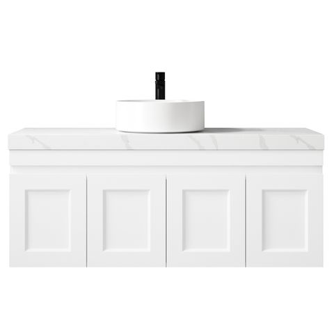 Hampton Matte White Vanity 1200mm