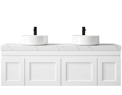 Hampton Matte White Vanity 1500mm