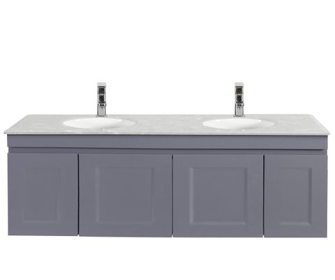 Hampton Matte Grey Vanity 1500mm