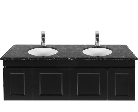 Hampton Matte Black Vanity 1500mm