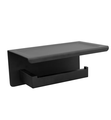 Paper Holder with Phone Shelf  Black