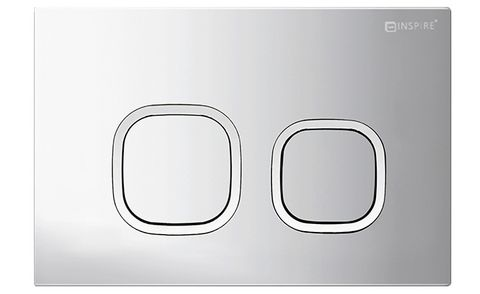 R&T Soft Square Push Plate Matte Chrome