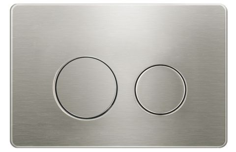 Round Brush Nickel Stainless Dual -Flush Push Plate for R& T