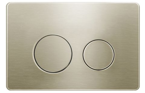 Round Brush Gold Stainless Dual -Flush Push Plate for R& T