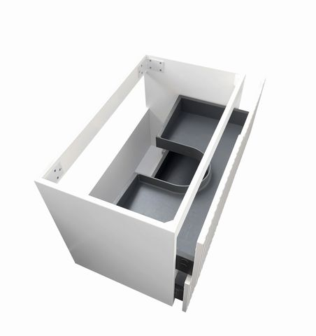 NOOSA Matte White 600x460x550 Wall Hung  cabinet only